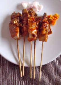 chicken sate from top