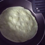 Balinese pancake in pan